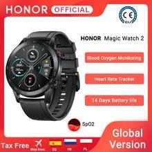 Em estoque versão global honra relógio mágico 2 relógio inteligente bluetooth 5.1 smartwatch oxigênio no sangue 14 dias à prova dwaterproof água magicwatch 2