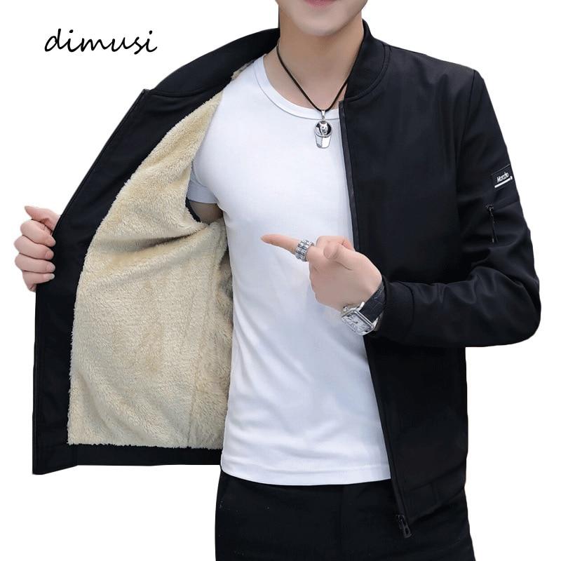 DIMUSI Men's Bomber Zipper Jacket Winter Male Fleece Warm Coats Casual Streetwear Hip Hop Slim Fit Pilot Jackets Mens Clothing 1