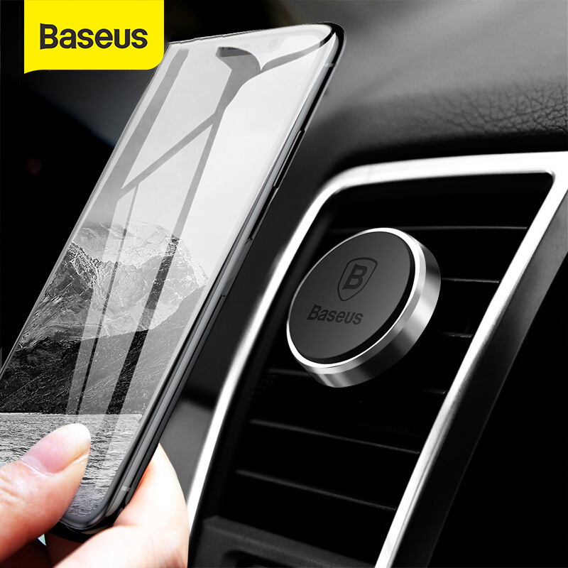Baseus Magnetic Car Phone Holder For IPhone Samsung Xiaomi Mi 9 Magnet Mobile Phone Stand Air Vent Mount GPS Car Holder