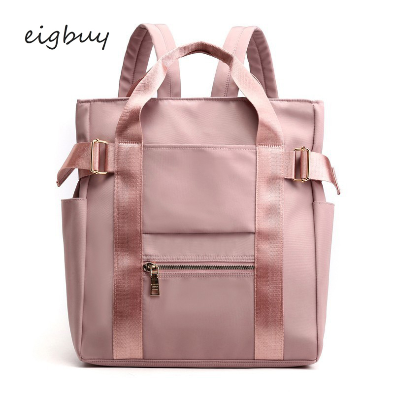 Waterproof Nylon Backpack Women Casual Backpacks Ladies Back Pack Purse Tote Backpack School Bags For Teen Girl College Bookbags
