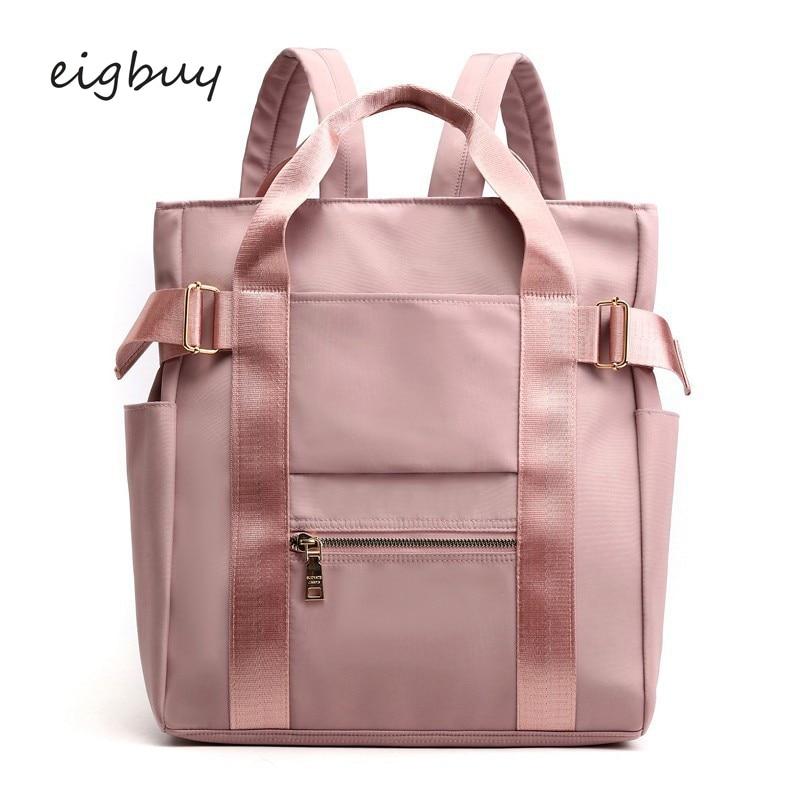 Waterproof Nylon Backpack Women Casual Backpacks Ladies Back Pack Purse Tote Backpack School Bags For Teen Girl College Bookbags