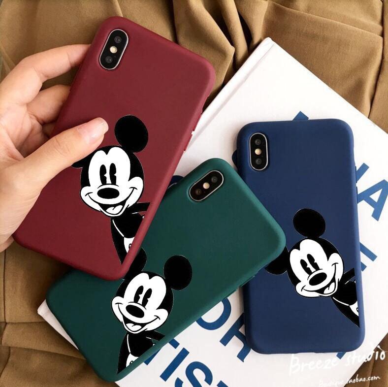 Cartoon Mickey Case For Xiaomi Redmi 8 Note 8A 8T 5A 6A 7A 5 Plus 6 Pro GO Note 7 8 Plain Silicone Cover Cases Soft TPU