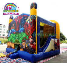 Inflatable Customizable Pvc tarpaulin Material Bounce Houses PVC Fabric Bouncy Castle Prices Commercial Bouncer Slide(China)