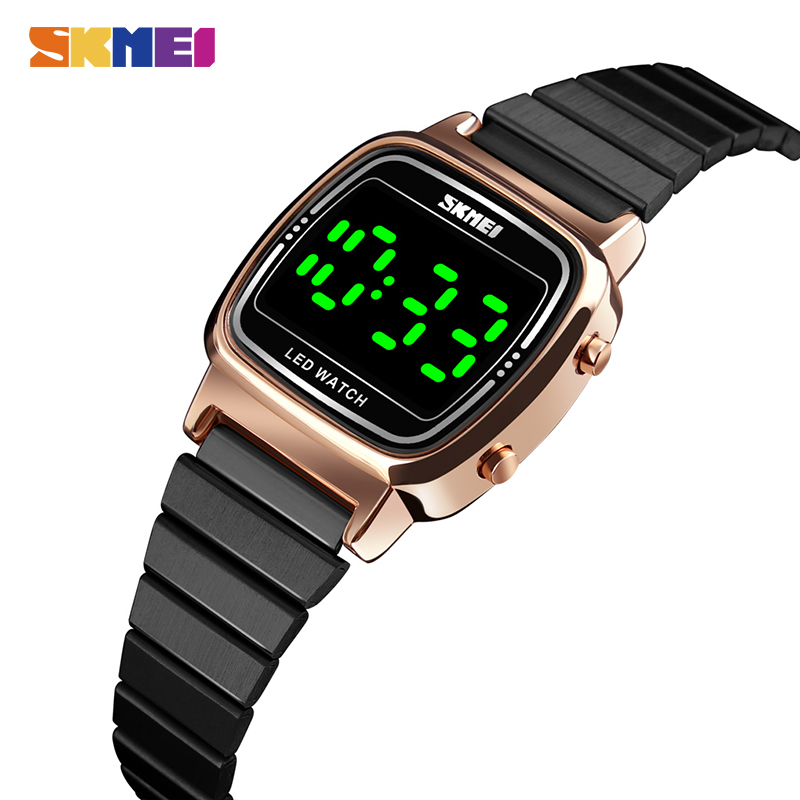 <font><b>SKMEI</b></font> Top Brand Female Girls Waterproof Wristwatch Fashion Women LED Light Digital Watch Montre Femme 1543 Clock Ladies Watches image