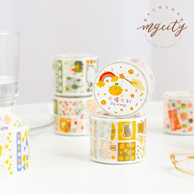 6PCS/LOT Wonderful Animal Island Series Paper Decorative Sulphuric Acid Paper Tape