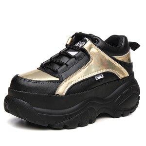Новинка 2020 года; повседневные женские кроссовки; зимняя обувь; женские осенние кроссовки на платформе; женская обувь на массивном каблуке; ж...