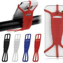 Универсальный мобильный телефон держатель силиконовый велосипеда автомобиля синий Черный, красный, белый цвета 99 S0307 отправлены из Италии