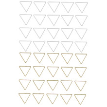 40 Sets Silver Gold Color Triangle DIY Charms Necklace Bracelet Earrings Connectors Pendants Jewelry Findings(China)