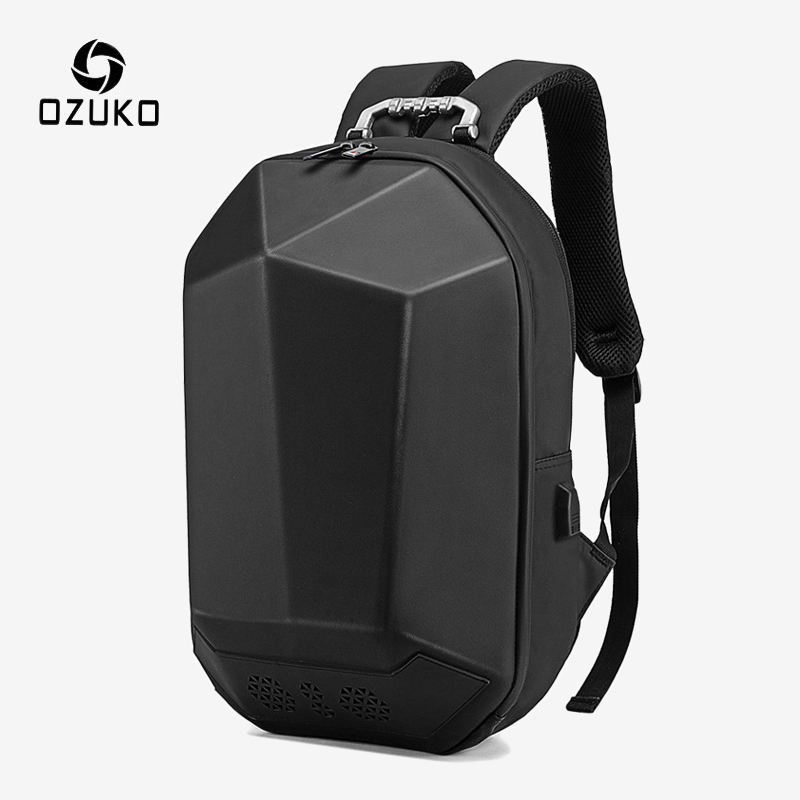OZUKO 15.6inch Laptop Backpack Men USB Charging Bluetooth Backpacks Teenagers Fashion School Bag Male Water Repellent Rucksack