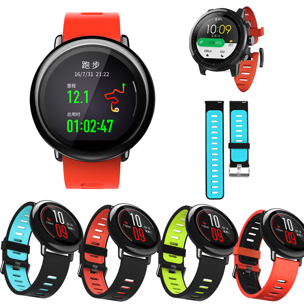 For Original Xiaomi Huami Amazfit Stratos 2 2S /For Amazfit Pace Bracelet Strap Smart Watch Band 22mm Soft Silicone Wristband