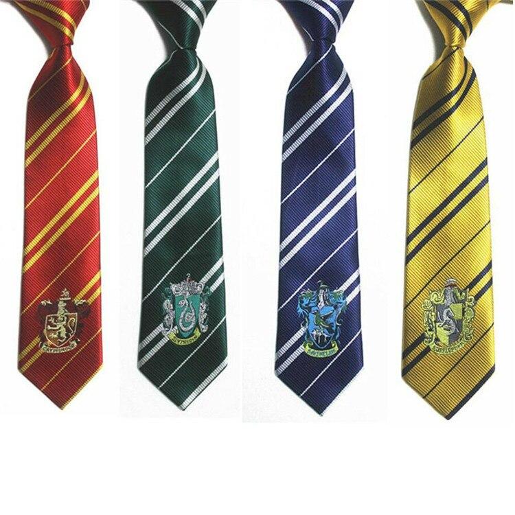 Harry Necktie ties Gryffindor/Slytherin/Hufflepuff/Ravenclaw badge Necktie ties Cosplay Costumes accessories Hallowee Colsplay
