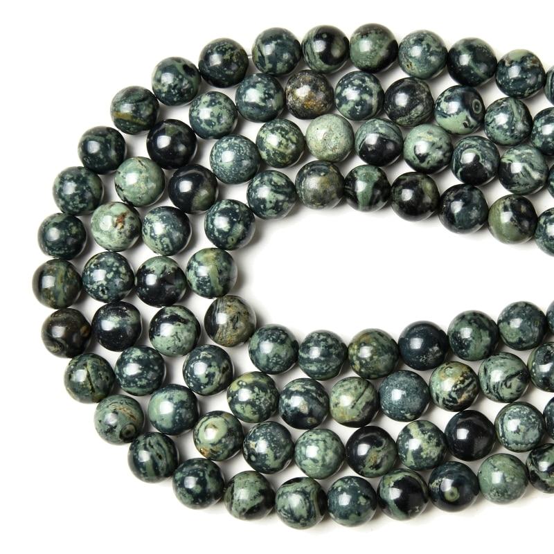 Factory Price Natural Kambaba Jasper Round Loose Beads 15