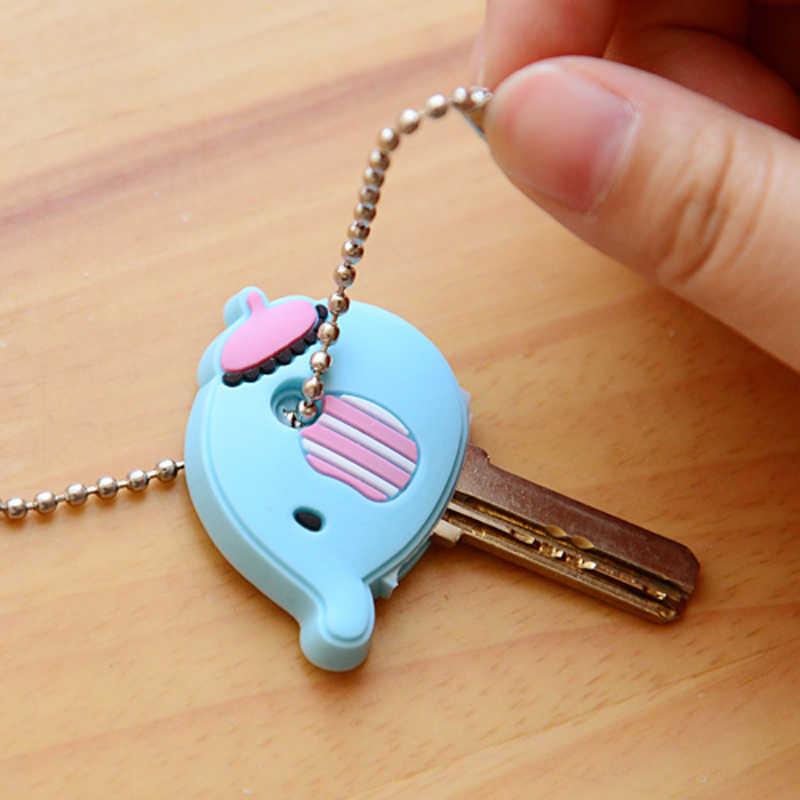 الكرتون أنيمي المفاتيح لطيف سيليكون ميكي غرزة الدب مفتاح غطاء قبعة النساء هدية البومة بورت المفتاح المفتاح سلسلة
