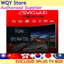 2021 новейшая ТВ-приставка SVICloud 3plus 2g 16gb dual wifi 8K UHD android 10,0 Голосовое управление для Сингапура/Малайзии/США/Канады pk evpad