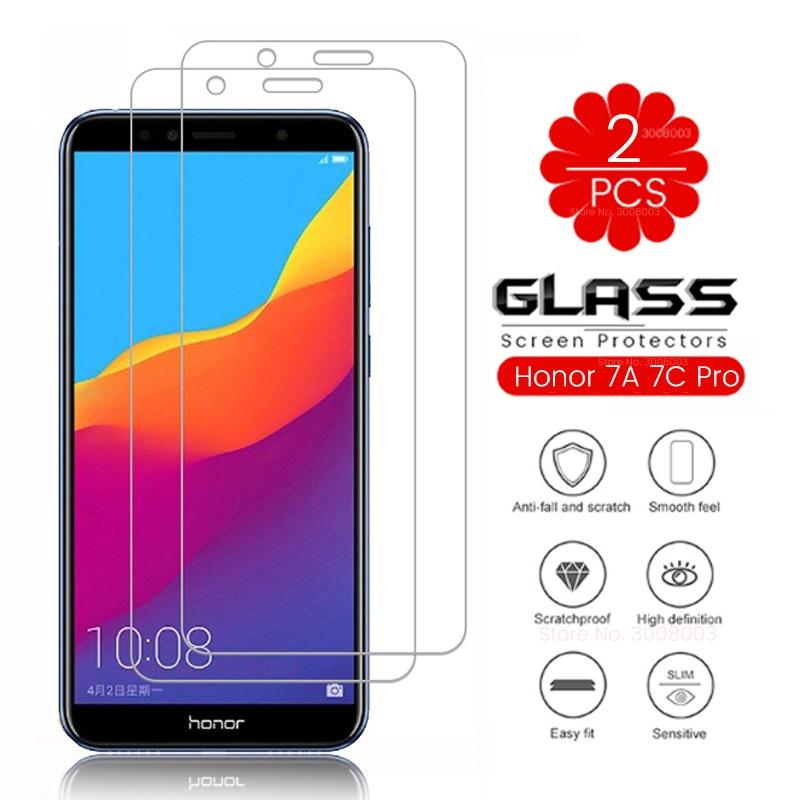 2pcs Protective Glass On Honor 7a 7c Honer 7 A C A7 C7 Pro 7apro 7cpro Honor7a Honor7c Honor7apro Honor7cpro Dua-l22 Aum-l29 L41