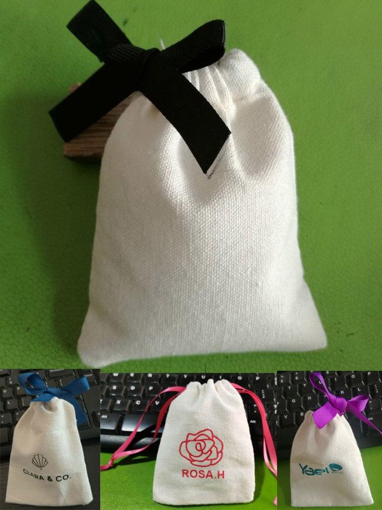 Hair-Eyelashes Ribbon Jewelry Makeup Gift-Bags Drawstring Pouches Cotton 9x12cm 10x15cm