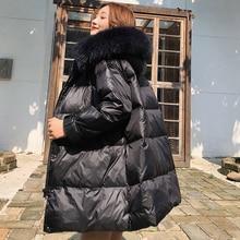 Korean Fashion Down Jacket Woman Hooded Women Coats Jackets Warm Parka Puffer OL Black