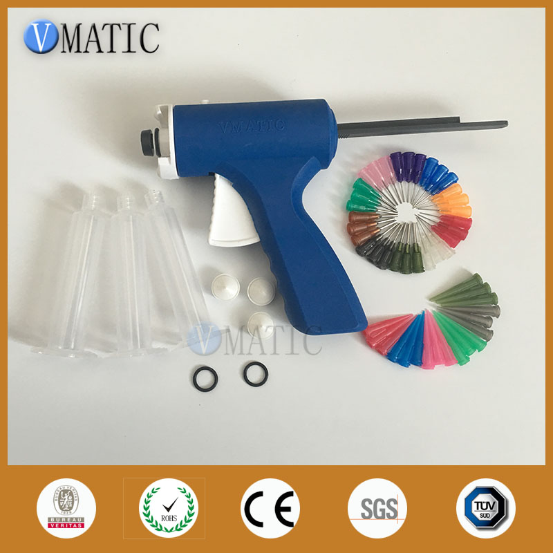 Free Shipping Plastic 10cc/ml Dispensing Syringe Barrel Caulking Gun With Syringe & Needles