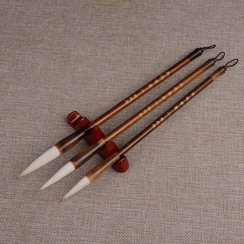 White  Chinese Japanese Calligraphy Brush Pen Set Art For Office School Drawing Supplies