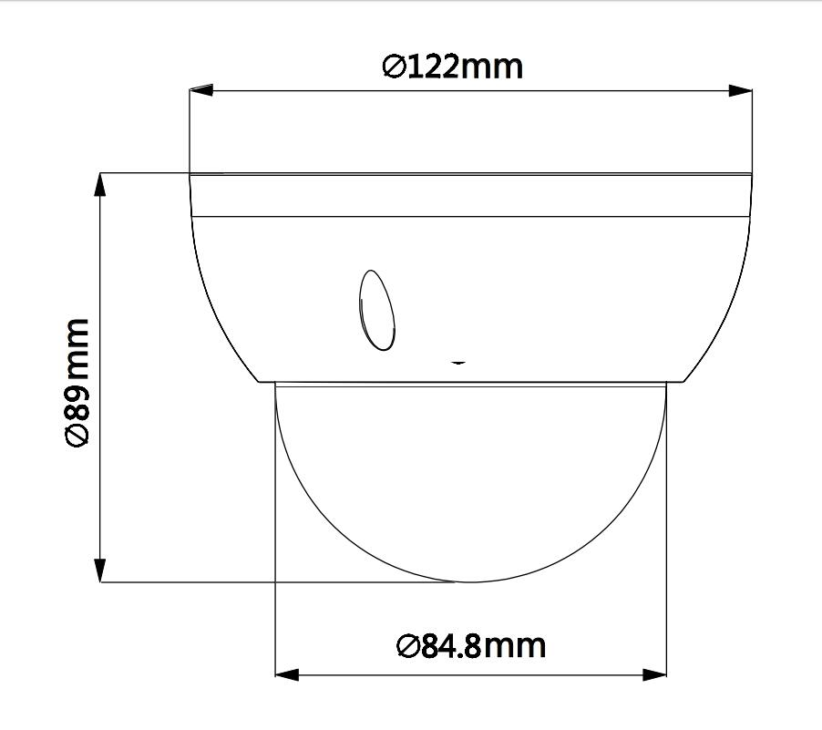 Купить с кэшбэком Dahua IP camera SD22204UE-GN 2MP 4x Starlight PTZ Network Camera Support PoE IK10