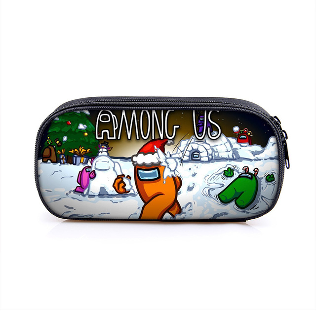 Among Us Game toy Figure Pen Case Student School Supplies Anime Stationery Box Child Study Pencil Bag Christmas Gift 4