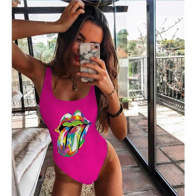 One Piece Swimsuit Women Swimwear Push Up Monokini Sexy Bodysuit Print Bathing Suit Female Beachwear Backless Swim Wear Beach 4