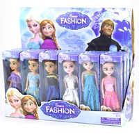 6 pz/set scatola Originale di Alta Qualità Anna E Elsa Bambole Boneca Bambola Elsa Febbre 2 Principessa Vestiti Per Le Bambole figure ragazze Giocattoli