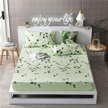 1 ud. 100% colchón de cama de poliéster estampado con cuatro esquinas y hojas de banda elástica gran oferta