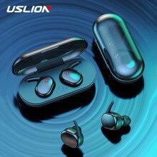 TWS Fingerprint Touch Bluetooth 5.0 Wireless Earphones Stereo Sport Waterproof Earphone Earbuds In-ear With Charging Case