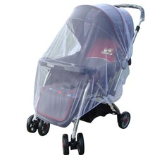Hot sale Whtie Stroller Pushchair Mosquito Insect Net Mesh Buggy Cover for Baby Infant Outdoor protect Infant Crib Netting