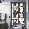 Мультфильм животных скандинавский стиль печать лен хлопок занавеска Дверь Кухня занавеска Кабинета детская комната украшение
