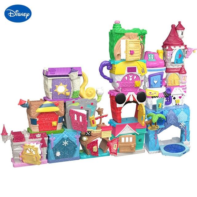 Disney Doorables Frozen Elsa Olal Mickey Minnie Judy Pinocchio Rapunzel Alice Snow White Belle Princess Blind Box Girl Kids Toys 1