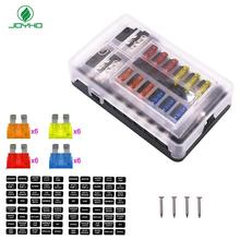 6Way/12Way Fuse Terminal Block with Fuse,with Negative Bus Fuse Box Holder with Red LED Indicator and Fuses - JOYHO