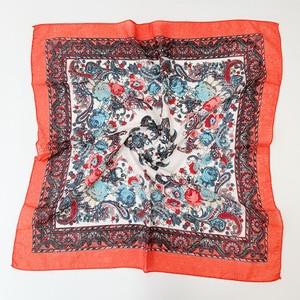 Image 4 - พิมพ์ชาติพันธุ์ผ้าพันคอผ้าพันคอ 70 ซม.X 70 ซม.ป้องกันฝุ่น Cashew ดอกไม้ผ้าพันคอ Retro ดอกไม้มุสลิม Headscarf รัสเซีย hijab