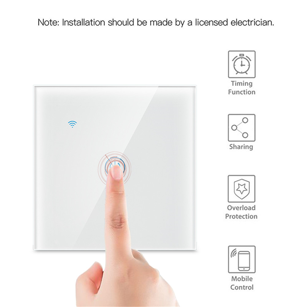 Image 4 - 1/2/3 Gang 1 Way Tuya WiFi Smart Switch Wall Light Switch WiFi Single live line for application without neutral wireSwitches   -