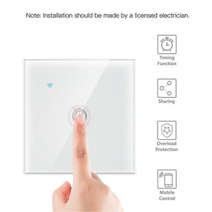 Image 4 - 1/2/3 Gang 1 Way Tuya WiFi Smart Switch Wall Light Switch WiFi Single live line for application without neutral wire