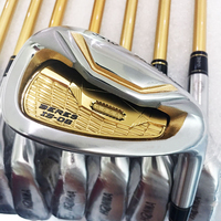 HONMA S-06-palos de Golf de 4 estrellas, 4-11.Aw.Sw, juego de hierros de Golf de grafito o eje de acero con cubierta para la cabeza, 10 Uds.