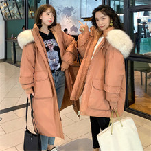 Winter Jacket Women 2019 New Long Outwear for Fashion Female Warm Coat Fake Fox Fur Parkas