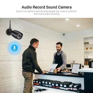 Image 5 - Hamrolte HD 1080P Yoosee Wifi caméra balle extérieure Onvif caméra sans fil enregistrement Audio détection de mouvement avec fente pour carte SD
