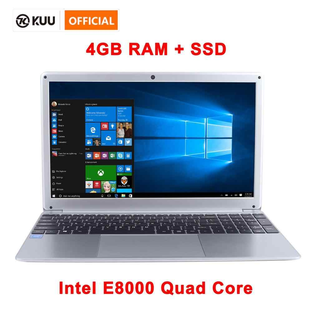 15.6 Inch 1080P Laptop Intel E8000 Quad Core 4 Gb Ram 128 Gb 256 Gb Ssd Notebook Met Bluetooth webcam Wifi Voor Student Office