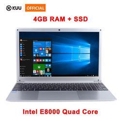 15,6 pulgadas 1080P ordenador portátil Intel E8000 Quad Core 4GB RAM 128GB 256GB SSD Portátil con Bluetooth webcam WiFi para oficina de Estudiante