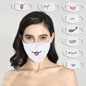 Mondkapjes 8 шт. Милая хлопковая маска с принтом моющаяся многоразовая маска для рта модная дышащая маска для лица с защитой от пыли маска для рта ...