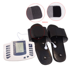 Image 5 - Russian/English Electrical Muscle Relax Stimulator Therapy Massager 16 Pads Pulse Tens Acupuncture Pain Relief Glove Sock Bracer