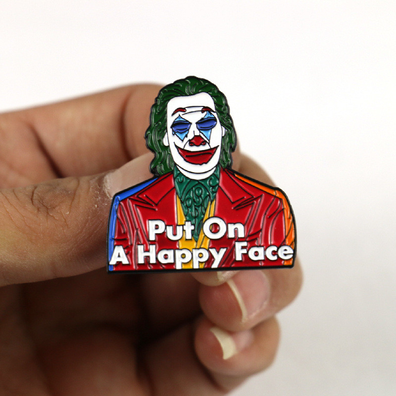 Metal Enamel Pin Badge Brooch Clown Funny Circus Joker