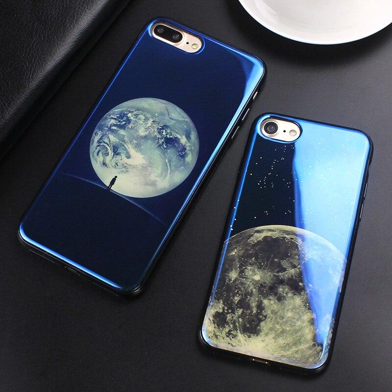 JAMULAR Electroplate Cahaya Biru Lembut Phone Cover untuk iPhone X XS - Aksesori dan suku cadang ponsel - Foto 2