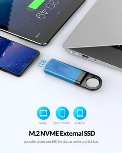Image 4 - ORICO External SSD M2 NVME Hard Drive Mini 1TB SSD 128GB 256GB 512GB M.2 NVME Portable SSD USB C 3.1 10Gbps Solid State Drive