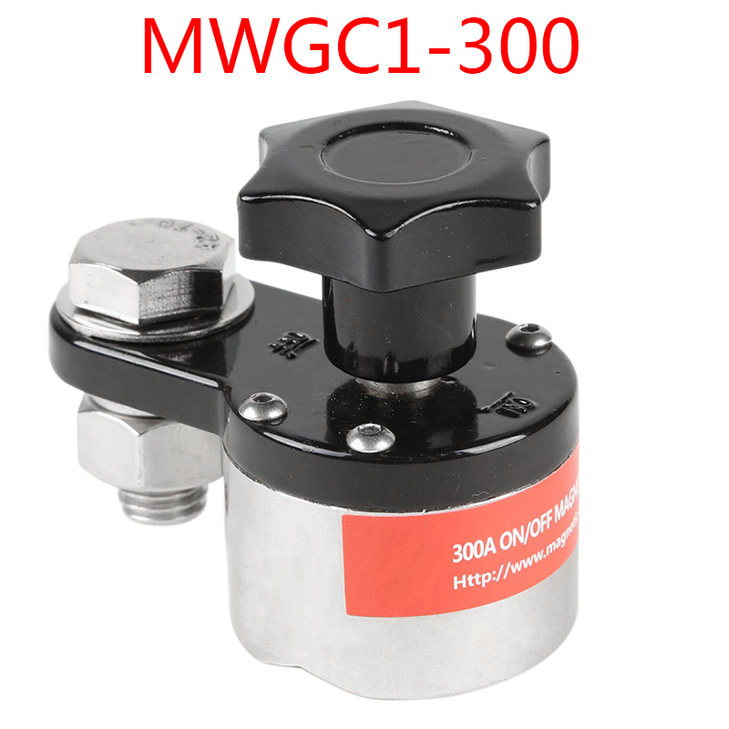 ElectroMagnetic Welding Ground Clamp Ground Magnet Connector Switchable Magnet Welding Bracket Welding Tool 300A