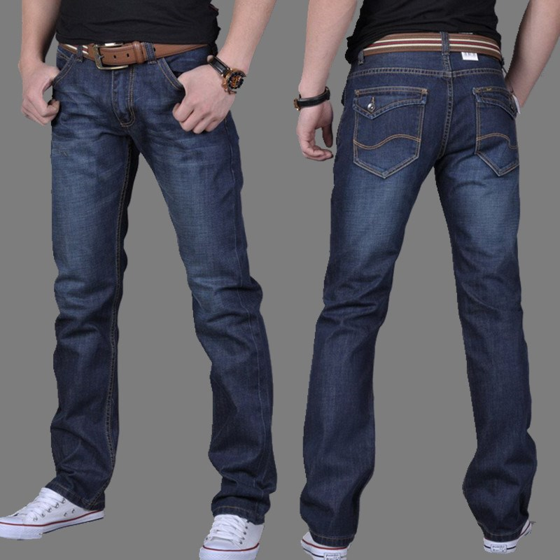 Summer MEN'S Jeans Straight-Cut Loose And Plus-sized Middle-aged Casual Trousers Ultra-Thin-Business MEN'S Trousers