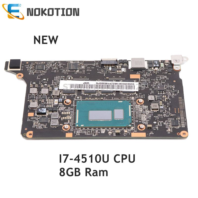 NOKOTION NEW For Lenovo Yoga 2 Pro Laptop Motherboard 5B20G38213 VIUU3 NM-A074 MAIN BOARD I7-4510U CPU 8GB RAM