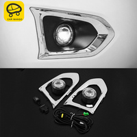 CARMANGO for Nissan Patrol Y62 2pcs Auto Car styling Front Rear Fog Lights Assembly LED Light Replacement Exterior Parts